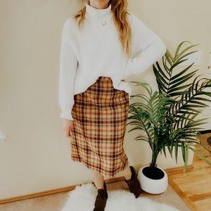 Vintage Pendleton 100% Virgin Wool Midi Skirt